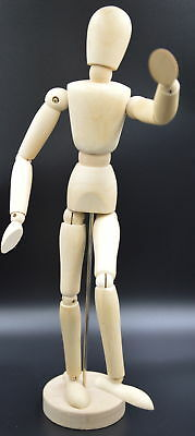 "NEW WOODEN ARTISTS MANNEQUIN MODEL WITH MOVABLE JOINTS 12"" 30cm"