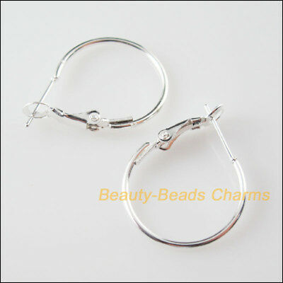 8 New Silver Plated Jewelry Lot Circle Basketball Wives Hoops Earrings 20mm