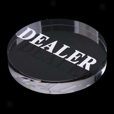 Acrylic Poker Dealer Buttons Poker Game Pressing Poker Cards Guard Game 56mm