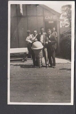 Social History - Group of Men with Giant Advertising Ice Cream Cone RP