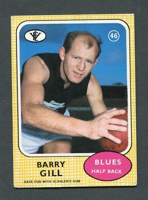 "Scanlens Gum 1970 ""rugby League - #46 Barry Gill (Blues)"" Rare Trade Card"