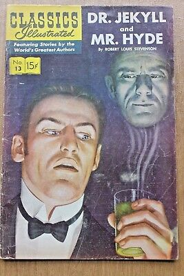 Classics Illustrated #13 - Dr. Jekyll & Mr. Hyde - April 1944 - R.l. Stevenson