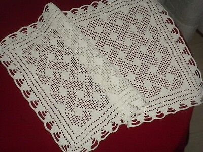 BEAUTIFUL VİNTAGE  HANDMADE CROCHET LACE DOILIES*code:215