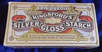 KINGSFORDS SILVER GLOSS STARCH 1 pound Unopened Box   Vintage