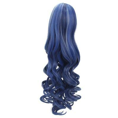 40cm Wavy Curly Hair Wig for 18'' American Girl Doll DIY Making ACCS Blue