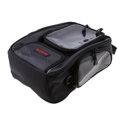 Motorcycle Tank Bag Waterproof w/ Magnetic Oil Fuel Tank Tail Bag - Black