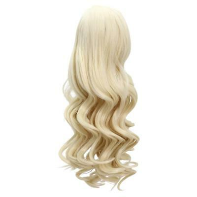 Middle Parting Curly Hair Wig for 18'' American Girl Dolls DIY Making Gold