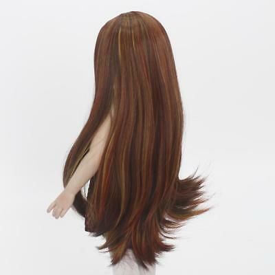 Dolls Long Straight Hair Wig for 18'' American Girl Doll DIY Making Brown