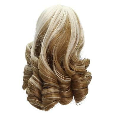 18cm Roman Curly Hair Wig for 18'' American Girl Dolls DIY Making Accessory