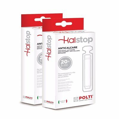 40 Polti Kalstop Anti-Scale Phials for Steam Generator Irons and Steam Cleaners