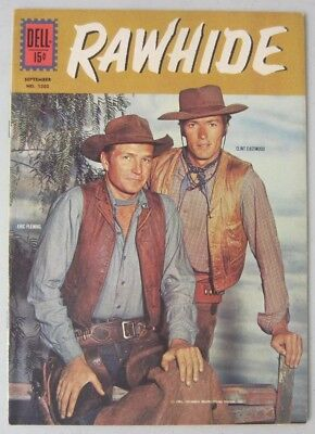 Rawhide (#4) Dell Comics Four Color #1202 Tv Western Eric Fleming Clint Eastwood