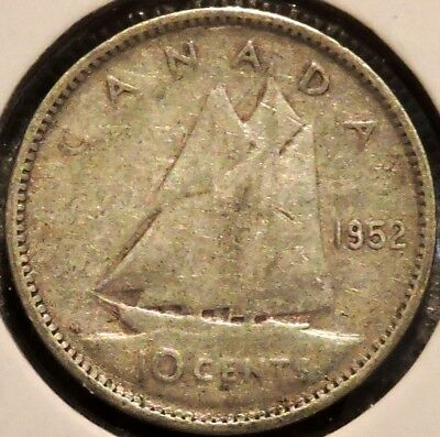 Canada Dime - 1952 - King George VI - $1 Unlimited Shipping
