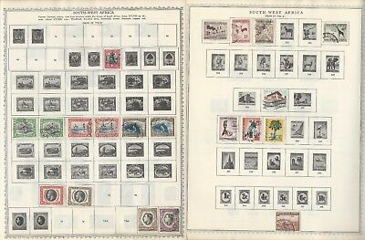 South West Africa Collection 1923-90 on 30 Scott International & Minkus Pages