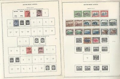 South West Africa Collection 1923-49 on 14 Minkus Specialty Pages