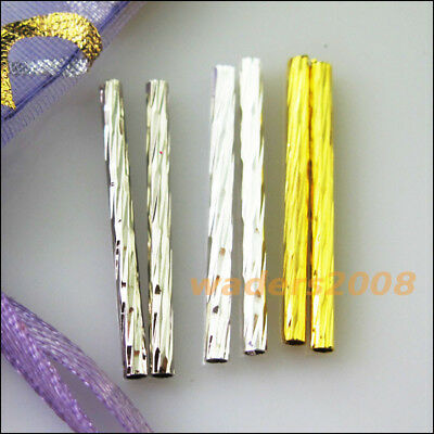 20 New 30mm Links Connectors Stripe Straight Tube Spacer Beads Bar