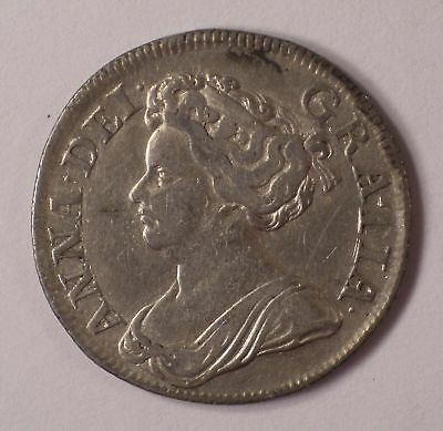 1714 Great Britain Shilling QUEEN ANNE KM-533.1 coin