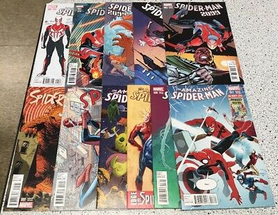Mixed Spider-Man Comic Variant Lot Of 11 2099 Spider-Gwen Amazing Marvel Spidey
