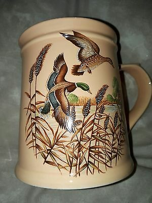 Stunning Vintage/Retro Gift Flying Ducks Holkham Pottery Large Tankard Style Mug