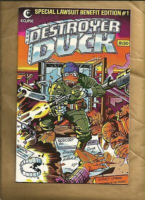 Destroyer Duck 1 vfn/nm 1982 Jack Kirby Eclipse Comics 1st app Groo the wanderer