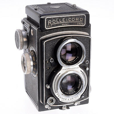 Rollei Rolleicord V Model K3C Vintage Mid 1950s 120 Film TLR w First EVS - As-Is