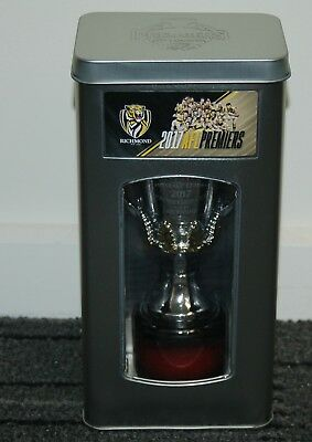 Richmond 2017 Afl Premiership Trophy Cup In Collectors Tin Cotchin Rance Martin