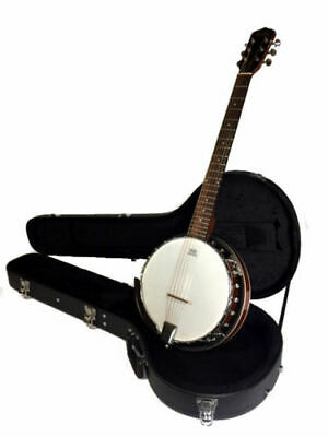 Great  Playing New Deluxe Banjitar 6 String Banjo Comes With Hard Shell Case