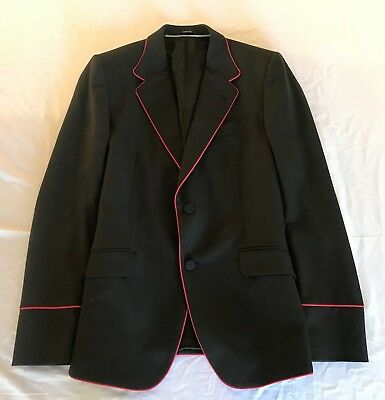 ~Nwt $2,750 Gucci Black & Red Trim Tuxedo Blazer Jacket (Current!) 52