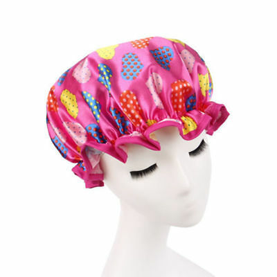 1pc Women Shower Caps Colorful Bath Shower Hair Cover Adults Waterproof Bathing