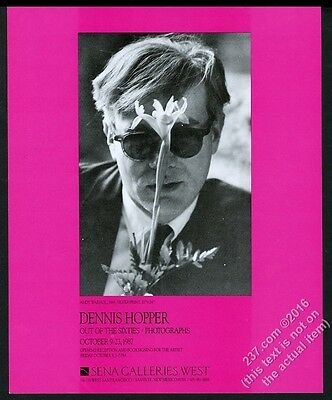 1987 Andy Warhol photo by Dennis Hopper SFC gallery show vintage print ad