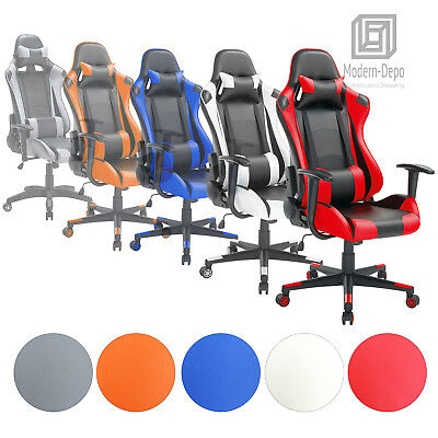High-Back Swivel Gaming Chair Ergonomic Racing Style Office Desk Chair