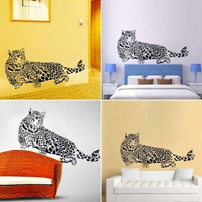 Wall Decals Decor Removable Black Leopard Excellence PVC Home 3D Sticker Solid