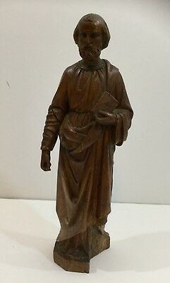 Fine 19th Century European Santos Saint Carving Sculpture of St Joseph