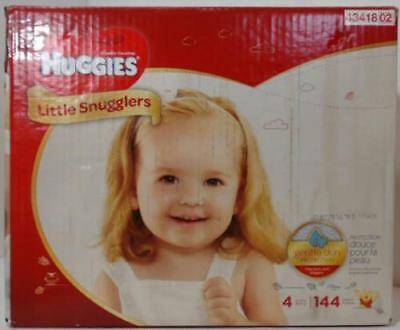 NEW Huggies 144 Counts Little Snugglers Baby Diapers, Size 4
