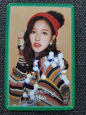 TWICE MINA Official PHOTOCARD #3 MERRY & HAPPY 1st Repackage TWICETAGRAM 미나