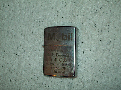 Eaton Ohio Mobil Oil Gas Lighter Bob Beoddy Oil Co OH