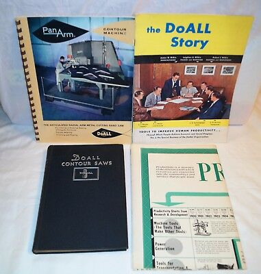 1950s DoAll Shop Manual Poster and Story Rare