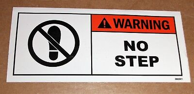 "Safety Label Warning No Step Adhesive Decal Sticker 5-1/2"" X 2-1/2"""