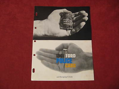1961 Ford Police Cars booklet Dealership Brochure Old Original FOMOCO Vintage