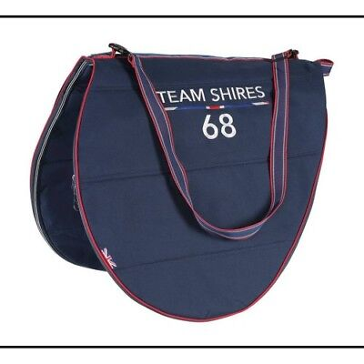 Shires Team Unisex Bag Saddle - Navy One Size