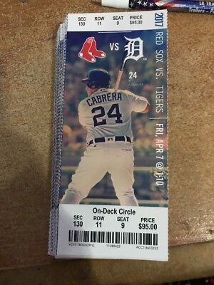 2017 Detroit Tigers Season Ticket Stub Pick Your Game Miguel Cabrera Hr Part 2