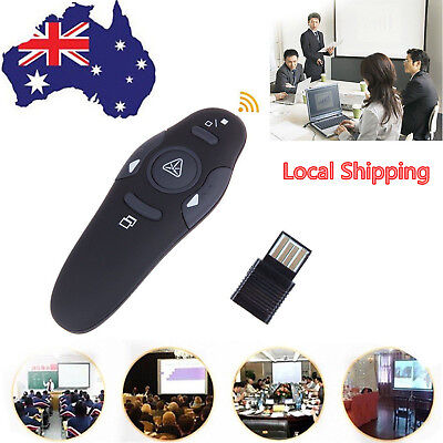 2.4GHZ USB Wireless Laptop Mouse PPT Presenter Pointer Clicker with Remote 1.5V