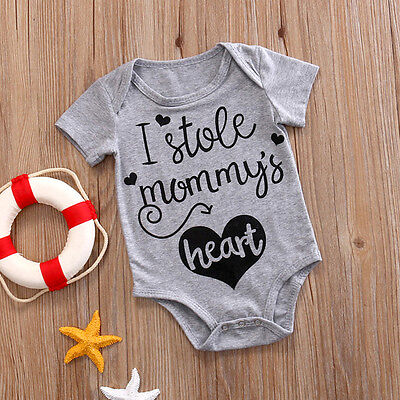 Infant Newborn Baby Boys Girl Romper Jumpsuit Bodysuit Clothes Outfits 0-24M New