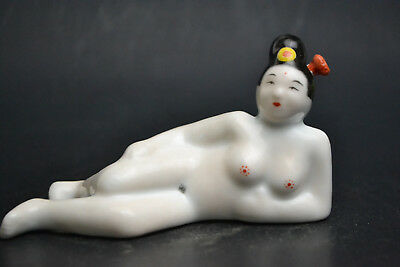 China Collectible Handicraft Old White Porcelain Sexy Naked Nice Snuff Bottle