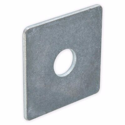 20x EXTRA THICK STEEL SQUARE WASHERS 50mm x M12 x 3mm Flat Zinc Plated Packers