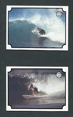 "Scanlens Gum 1976 ""surfboard Action Series- #12 & #28"" Trade Card"