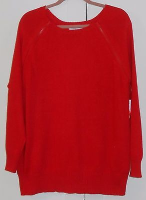 Women's Old Navy Lipstick Red Maternity L/s Double Zipper Tunic Sweater - Xlarge