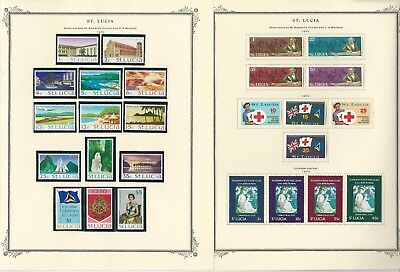 St Lucia Collection 1860-1973 on 25 Scott Specialty Pages (B)