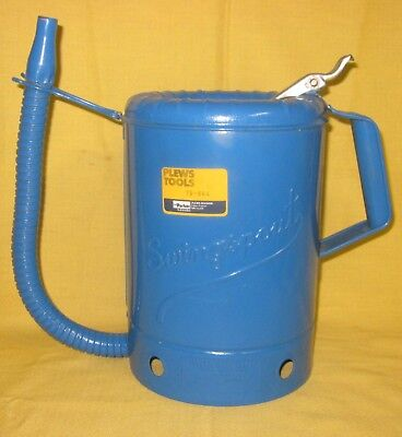 Vintage Blue Plews 75-664 Swingspout 1 Gallon Metal Oil Can  **NEW**SHIPS FREE**