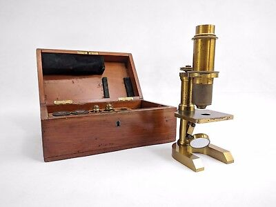 German Compound Microscope by R. Wasserlein, Berlin c1870  (282P)