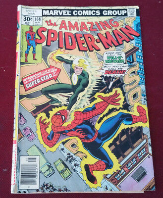 The Amazing Spider-Man #168 Will of the Wisp Good Condition Marvel Comics